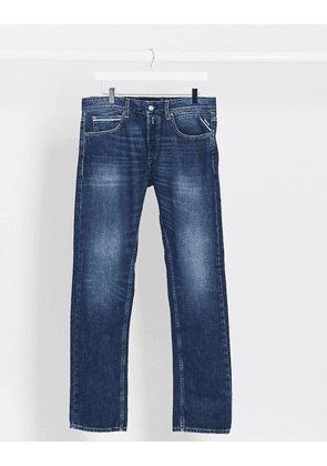 Replay Grover straight fit jeans in authentic blue
