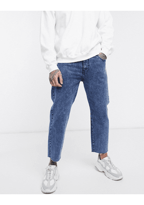 Dr Denim Otis cropped straight jeans-Blue