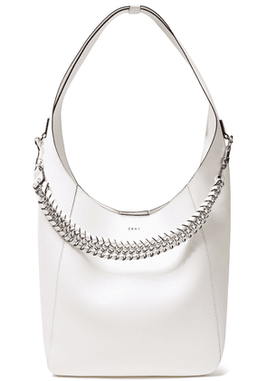 Dkny Bethune Chain-detailed Leather Shoulder Bag Woman White Size --