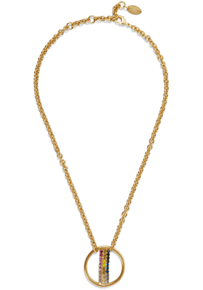 Elizabeth Cole Leroy 24-karat Gold-plated Crystal Necklace Woman Gold Size --