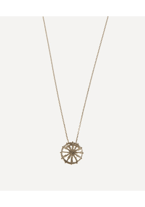 Gold Round Green Amethyst Drop Pendant Necklace