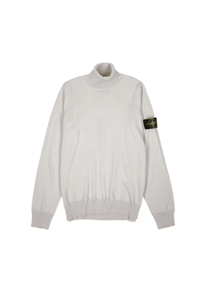 Stone Island Taupe Roll-neck Wool Jumper