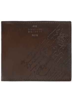 Berluti - Scritto Leather Billfold Wallet - Men - Brown