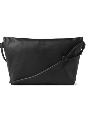 Bottega Veneta - Leather Messenger Bag - Men - Black