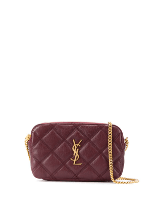 Saint Laurent Becky quilted mini bag - Red