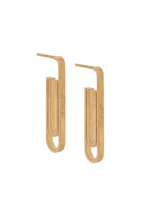 Off-White paperclip drop earrings - GOLD