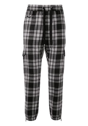 Dolce & Gabbana checked track pants - Black