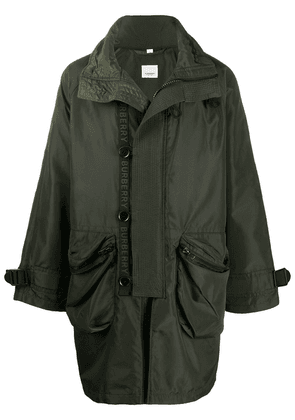 Burberry packaway hood parka - Green