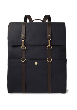 Mismo - Leather-Trimmed Canvas Backpack - Men - Blue