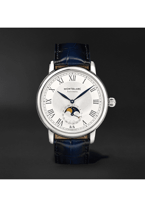 Montblanc - Star Legacy Automatic Moon-Phase 42mm Stainless Steel and Alligator Watch, Ref. No. 126079 - Men - White