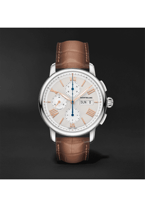 Montblanc - Star Legacy Automatic Chronograph 43mm Stainless Steel and Alligator Watch, Ref. No. 126080 - Men - White