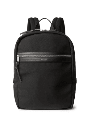 SAINT LAURENT - City Leather-Trimmed Canvas Backpack - Men - Black