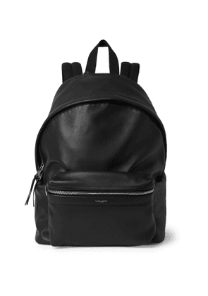 SAINT LAURENT - City Leather Backpack - Men - Black