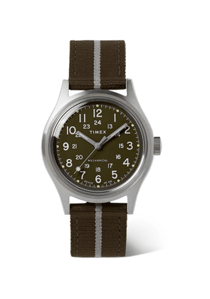 Timex - MK1 Hand-Wound 36mm Stainless Steel and Striped NATO Watch - Men - Green