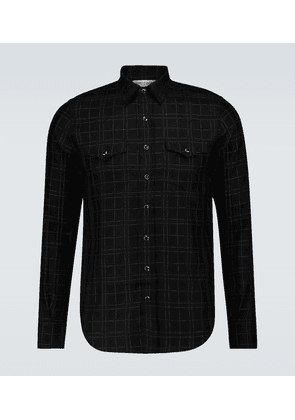 Western checked shirt