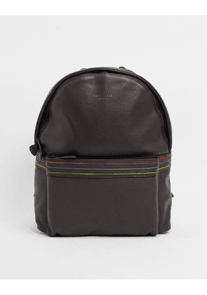 Ted Baker huntman striped detail backpack in brown