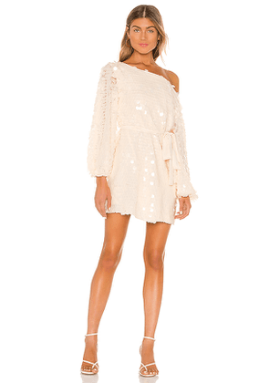 Lovers + Friends Micah Mini Dress in Beige. Size S,XS,XXS.