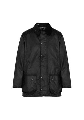 Barbour Beaufort Black Waxed Cotton Jacket