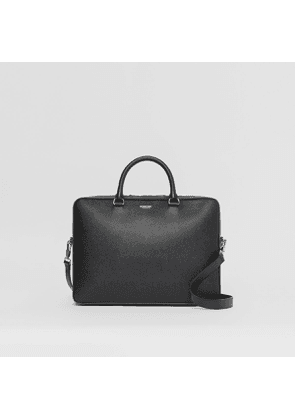 Burberry Grainy Leather Briefcase, Black