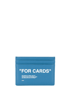 Off-White For Cards print cardholder - Blue