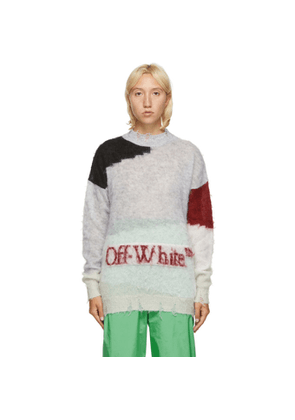 Off-White Grey Punked Sweater