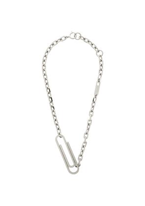 Off-White Silver XL Paperclip Necklace