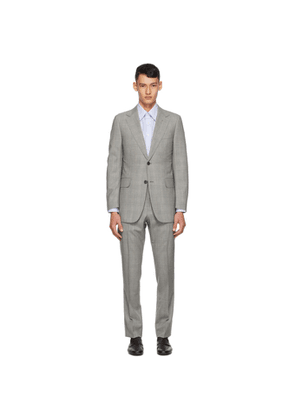 Dunhill Grey Prince Of Wales Check Suit