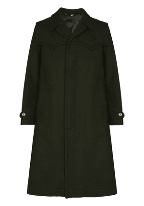 Gucci single-breasted overcoat - Green