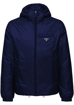 Prada padded zip jacket - Blue