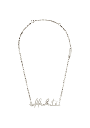 Off-White Silver Logo Necklace