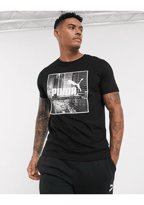 Puma street photo t-shirt-Black