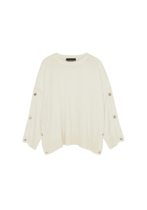 Boutique Moschino Ivory Fine-knit Wool Jumper