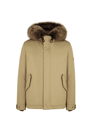 Yves Salomon Army Stone Fur-trimmed Shell Parka