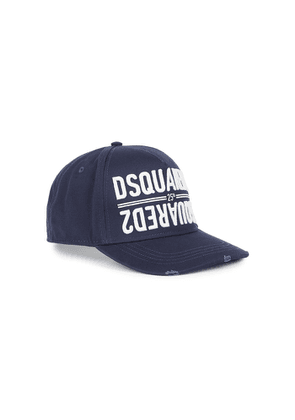 Dsquared2 Navy Logo-embroidered Twill Cap