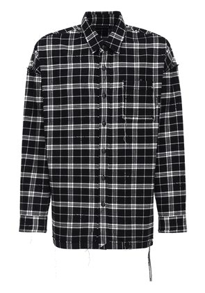 Reversible Flannel Shirt W/raw Cut Seams