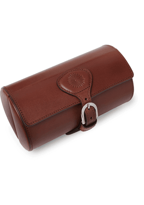 Purdey - Travel Leather Double Watch Roll - Men - Brown