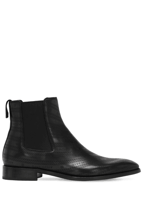 30mm Logo Leather Chelsea Boots