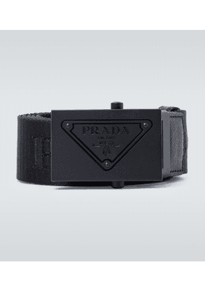 Technical belt with metal buckle