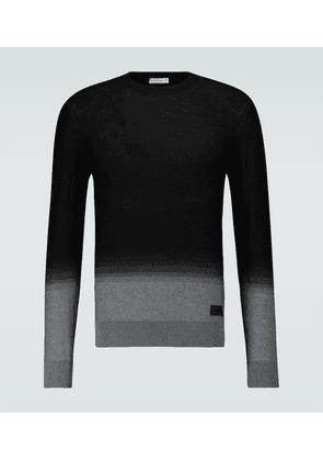 Gradient jacquard wool sweater