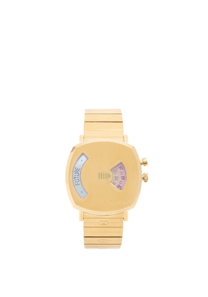 Gucci - Grip Digital-roulette Two-window Gold Watch - Womens - Gold