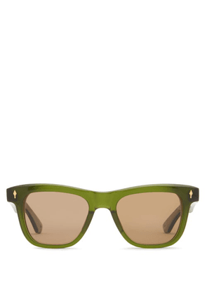 Jacques Marie Mage - X Yellow Stone Forever Fitzgerald Sunglasses - Mens - Green