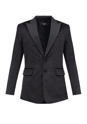 Amiri - Silk Peak-lapel Single-breasted Velvet Jacket - Mens - Black