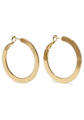 Iris & Ink 18-karat Gold-plated Hoop Earrings Woman Gold Size --