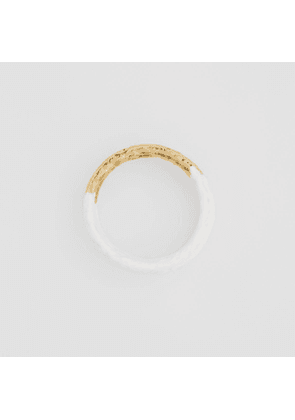 Burberry Enamel and Gold-plated Bangle, Yellow