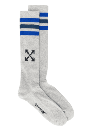 Off-White Arrows mid-length socks - Grey