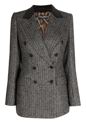 Dolce & Gabbana checked double-breasted blazer - Brown