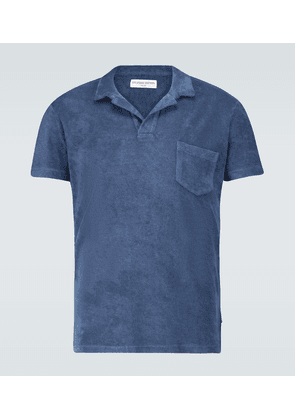 Terry toweling cotton polo
