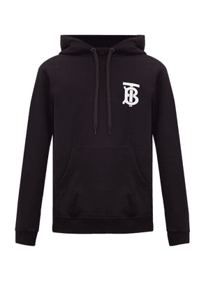 Burberry - Landon Tb-logo Cotton Hooded Sweatshirt - Mens - Black
