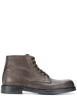 Dolce & Gabbana lace-up leather boots - Brown