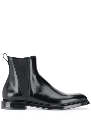 Dolce & Gabbana side-zip ankle boots - Black